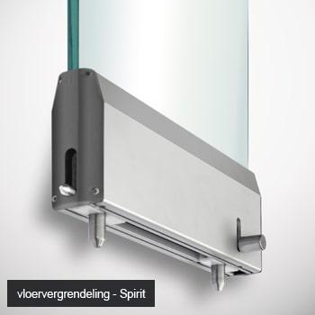 Glass partition floor locking mechanisms