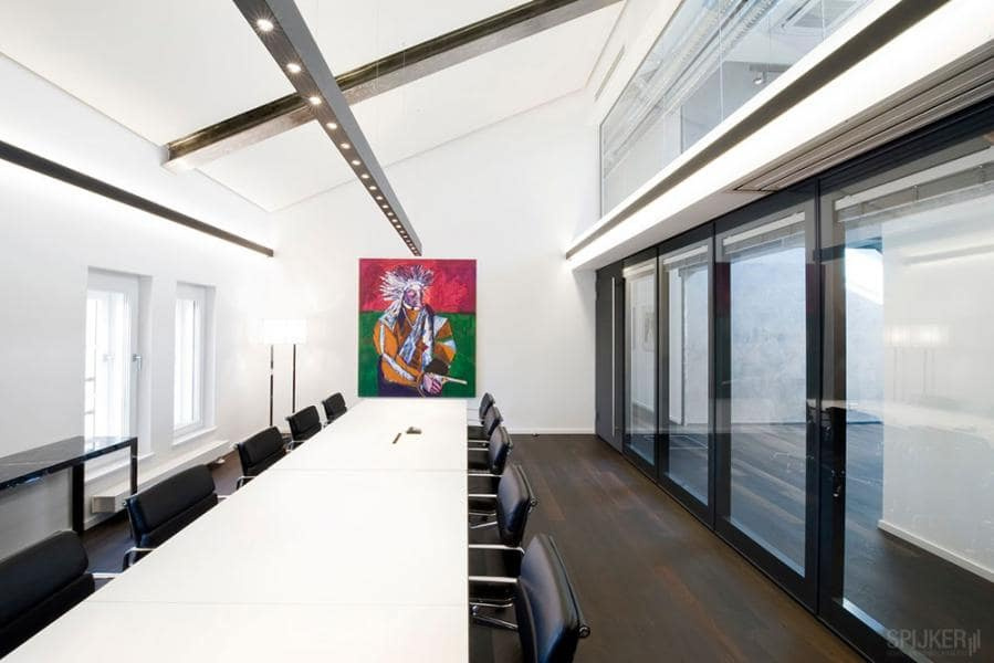 Glass wall TransSpace in an office setting