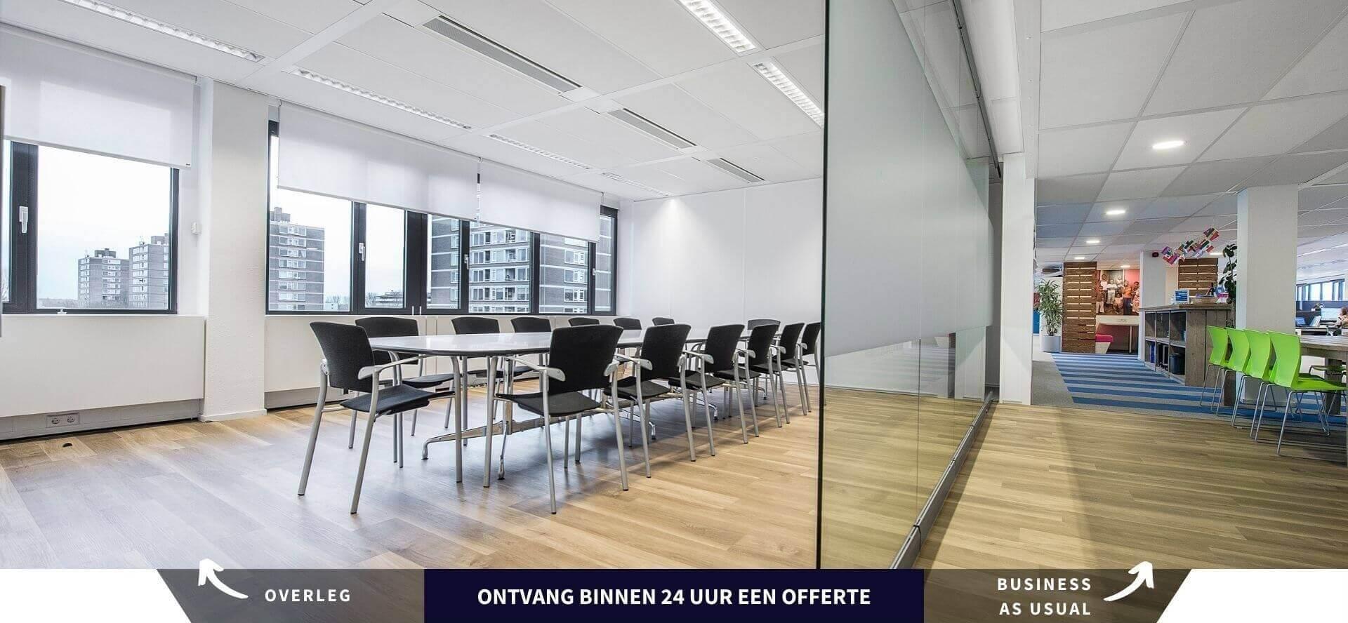 Mobiele Glaswand voor Vergaderingen op Kantoor