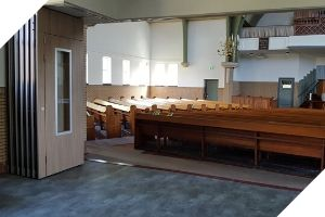 Bestel een mobiele wand voor in een kerk