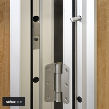 Hinges and insulation for operable wall Space