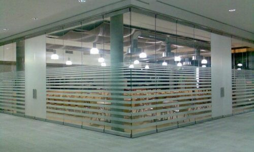 Conference room surrounded by glass partition Spirit