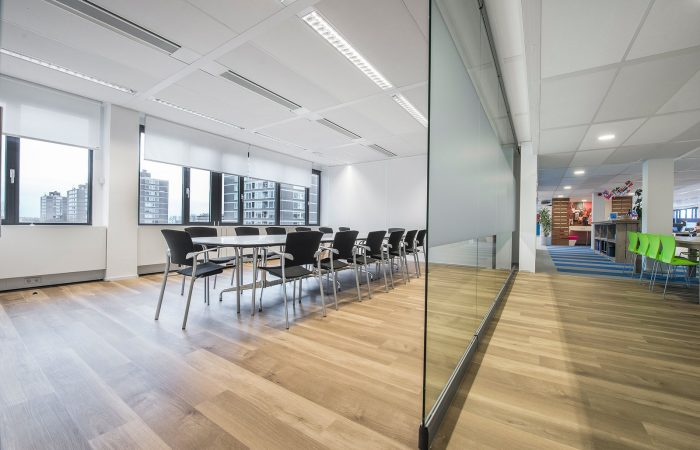 Glass partition Spirit is thin and open
