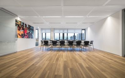 Glass partition Spirit is slim and helps to retain light