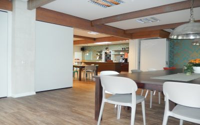 Inspiration for projects about operable partitions in restaurants