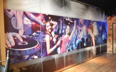 Operable wall Space with printed finish