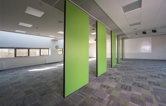 Movable wall Space in a school