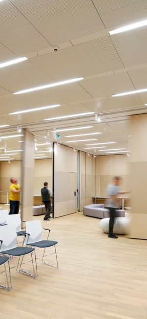 An operable partition requires maintenance and customization