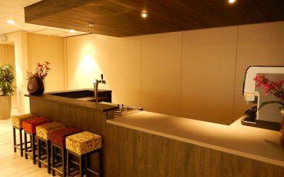 Isolatie is ideaal voor een paneelwand in de horeca