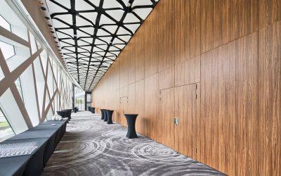 Paneelwanden projecten in conferentiehallen