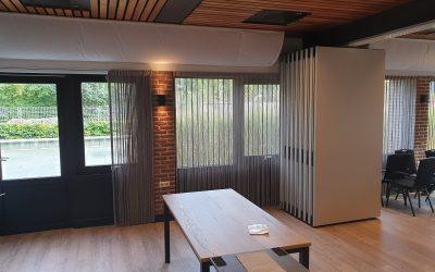 Inspiratie voor een paneelwand met geluidsisolerend design