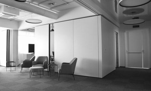 Paneelwand Space - Wit-Grijze Lobby