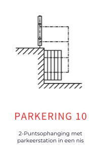 Parkering voor mobiele wanden