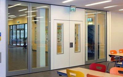 Open, mobiele wandsystemen op school