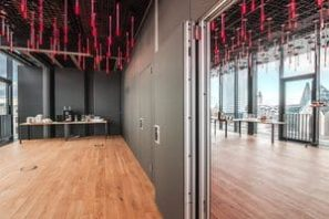 Operable wall in hospitality
